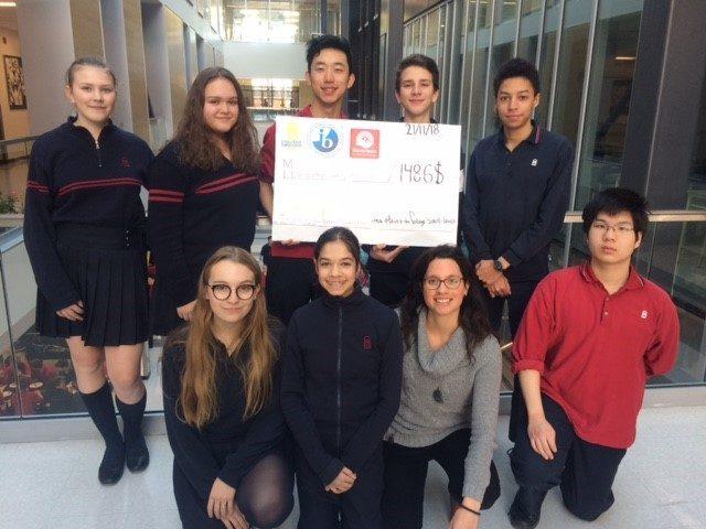 Le Collège Saint-Louis amasse plus de 1400$ pour l'organisme Centraide du Grand Montréal